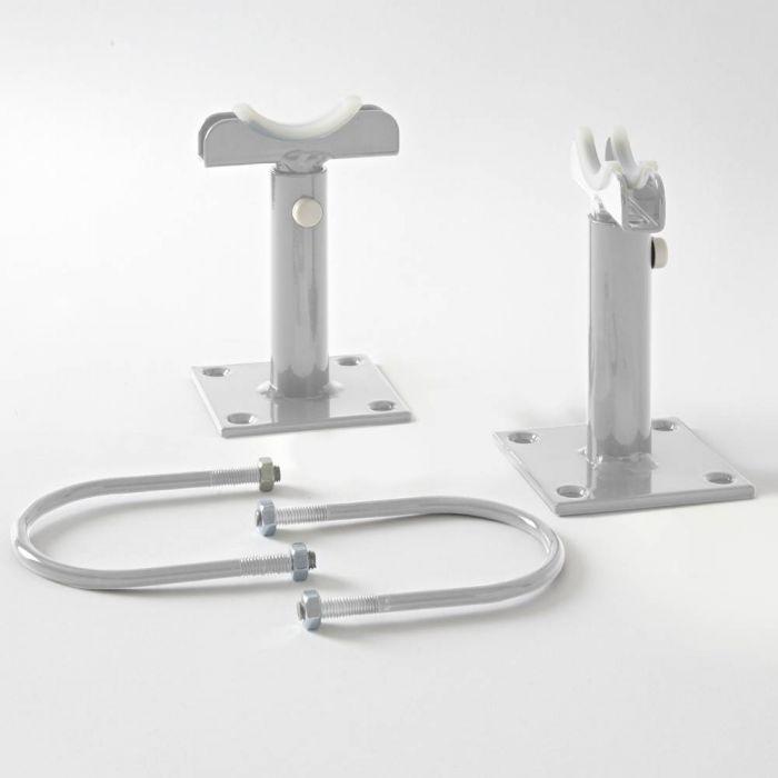 Milano Windsor - Floor-Mounting Feet for 500mm and 750mm Column Radiators - Metallic Silver