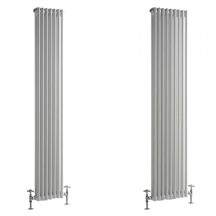 Stelrad Regal - Vertical Double Column White Traditional Cast Iron Style Radiator - Choice of Size