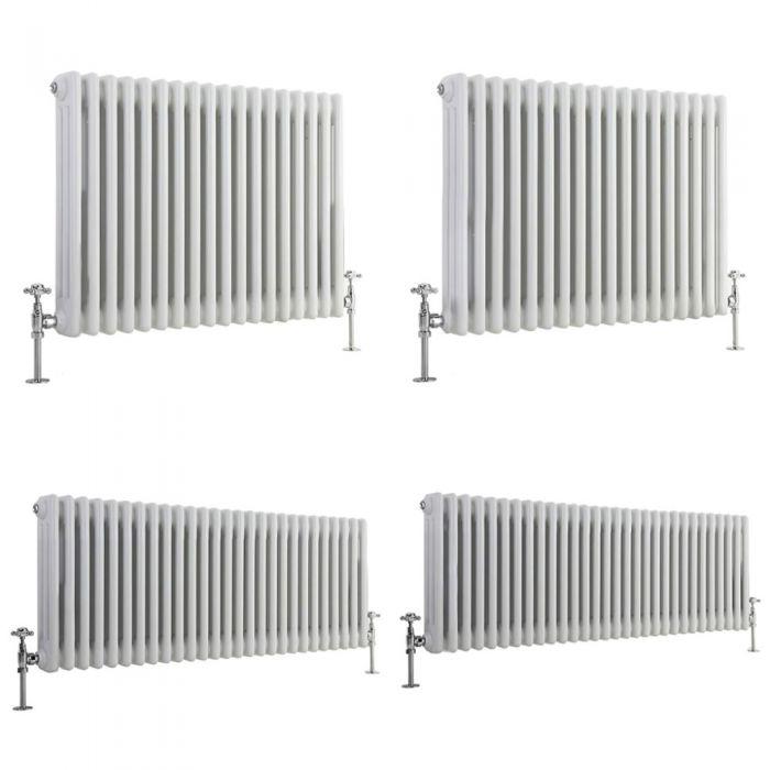 Stelrad Regal - White Horizontal Traditional Column Radiator - Triple Column - Choice Of Height & Width