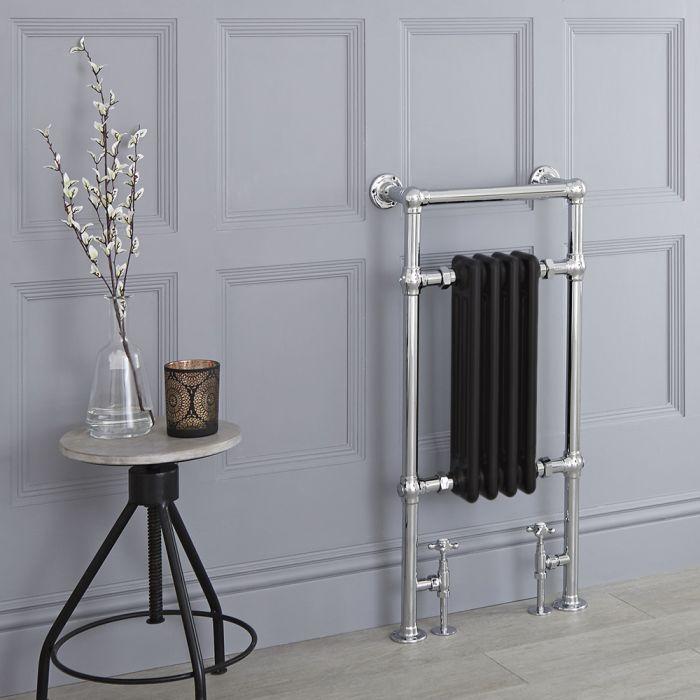 Milano Elizabeth - Black Traditional Heated Towel Rail - 930mm x 452mm