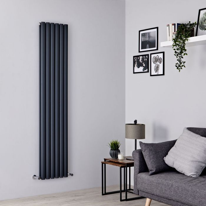 Milano Aruba - Anthracite Vertical Designer Radiator 1780mm x 354mm (Double Panel)