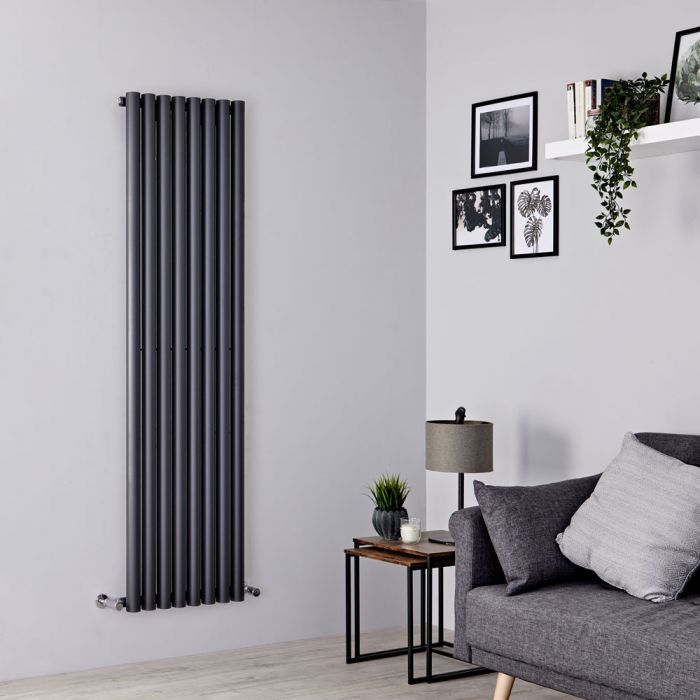 Milano Java - Anthracite Vertical Round Tube Designer Radiator 1780mm x 472mm