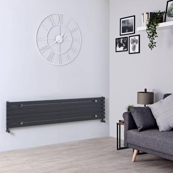 Milano Capri - Anthracite Horizontal Flat Panel Designer Radiator 354mm x 1780mm