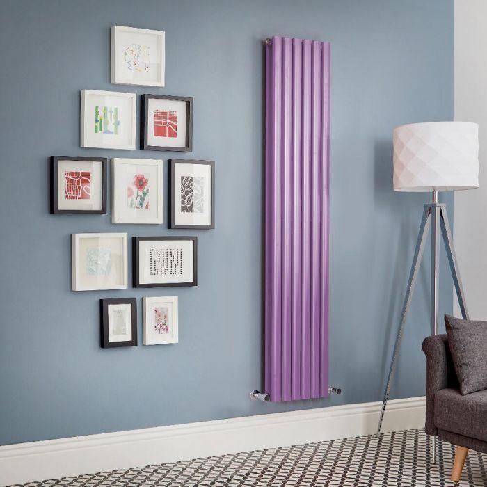 Milano Aruba - Purple Vertical Double Panel Designer Radiator - Various Sizes