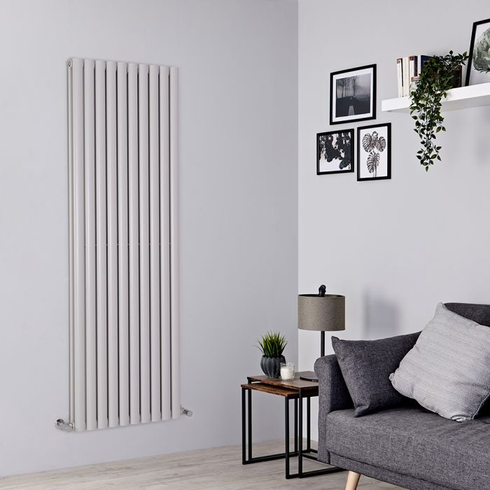 Milano Aruba - Light Grey Vertical Designer Radiator 1780mm x 590mm (Double Panel)