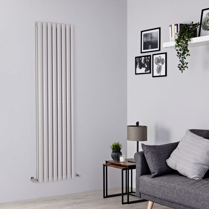 Milano Aruba - Light Grey Vertical Designer Radiator 1780mm x 472mm (Double Panel)