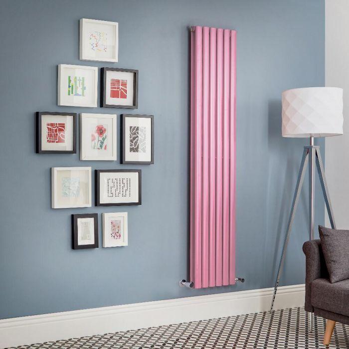Milano Aruba - Pink Vertical Double Panel Designer Radiator - Various Sizes