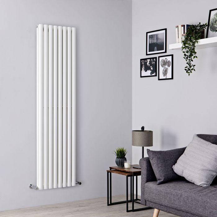 Milano Aruba - White Designer-Style Vertical Radiator 1780mm x 472mm (Double Panel)