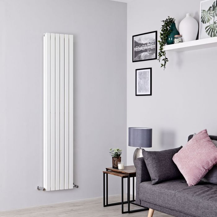 Milano Capri - White Vertical Flat Panel Double Designer Radiator 1780mm x 354mm