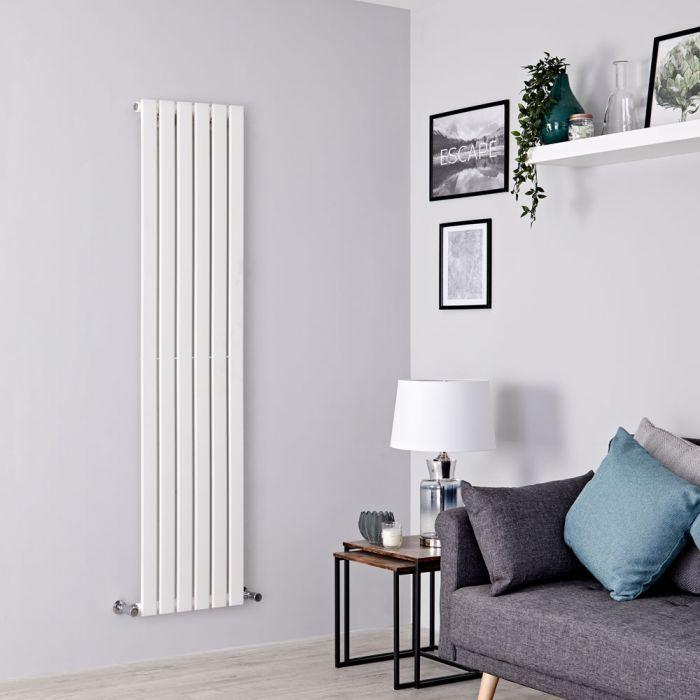 Milano Alpha - White Vertical Single Slim Panel Designer Radiator 1780mm x 420mm
