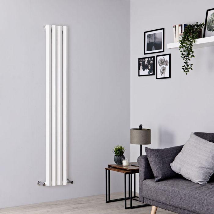 Milano Viti - White Vertical Diamond Panel Designer Radiator 1780mm x 280mm