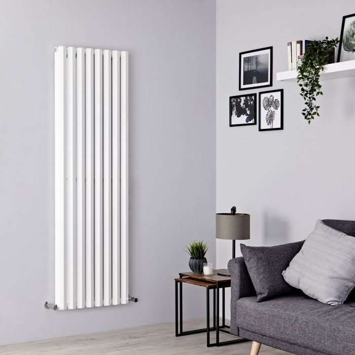 Milano Viti - White Vertical Diamond Double Panel Designer Radiator 1780mm x 560mm