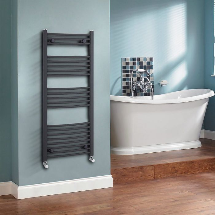 Milano Select - Anthracite Heated Towel Rail 1150mm x 500mm