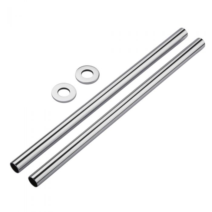Milano Chrome Pipes and Shrouds 300mm (Pair)