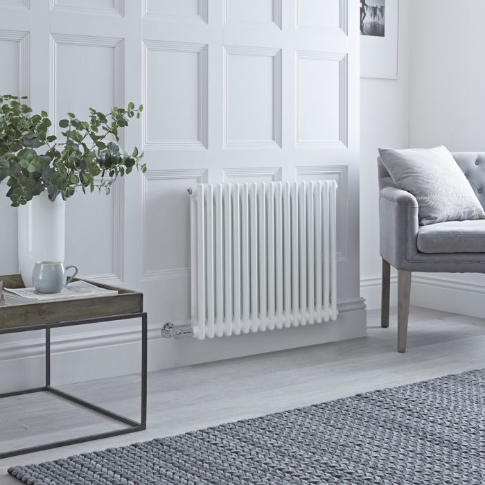 Milano Windsor - Traditional White 2 Column Electric Radiator 600mm x 785mm (Horizontal) - Choice of Wi-Fi Thermostat