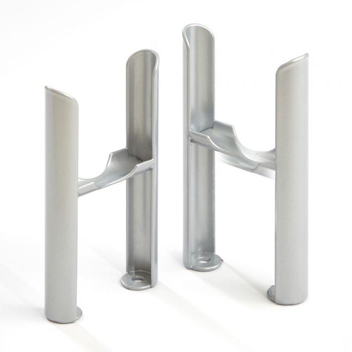 Milano Windsor - Traditional 3 Column Windsor Radiator Feet - Metallic Silver