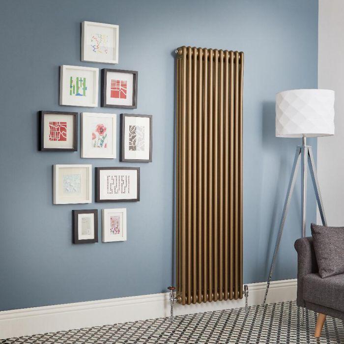 Milano Windsor - Metallic Bronze Vertical Traditional Column Radiator (Triple Column) - Various Sizes