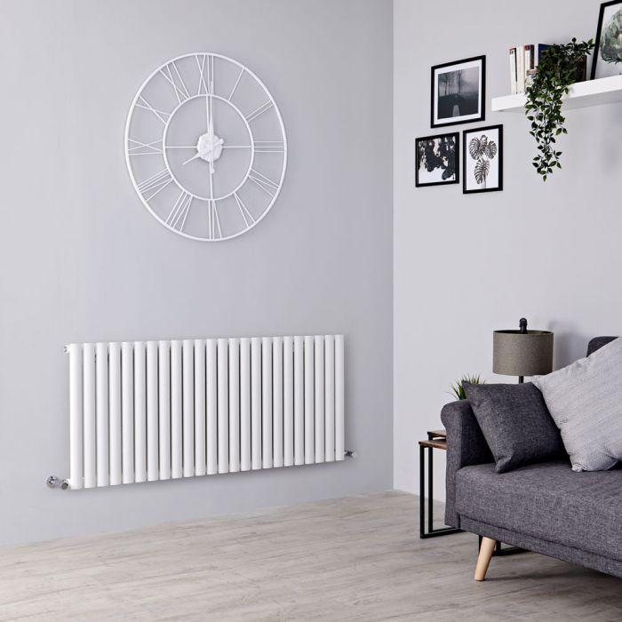 Milano Aruba - Modern White Horizontal Designer Radiator 601mm x 1411mm (Single Panel)