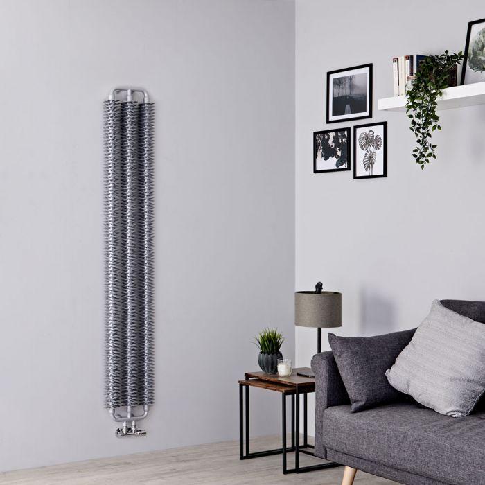 Terma Ribbon - Silver Matt Vertical Designer Radiator 1720mm x 290mm