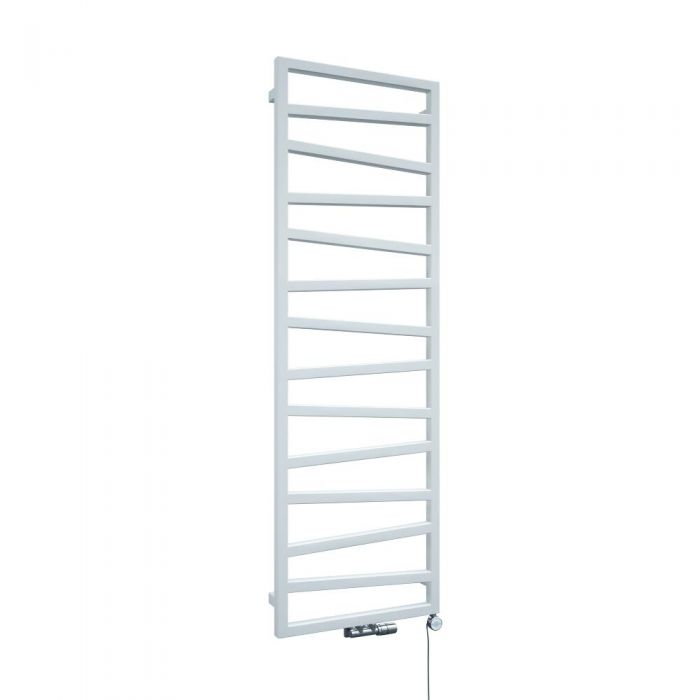 Terma ZigZag - White Vertical Heated Towel Rail 1545mm x 500mm