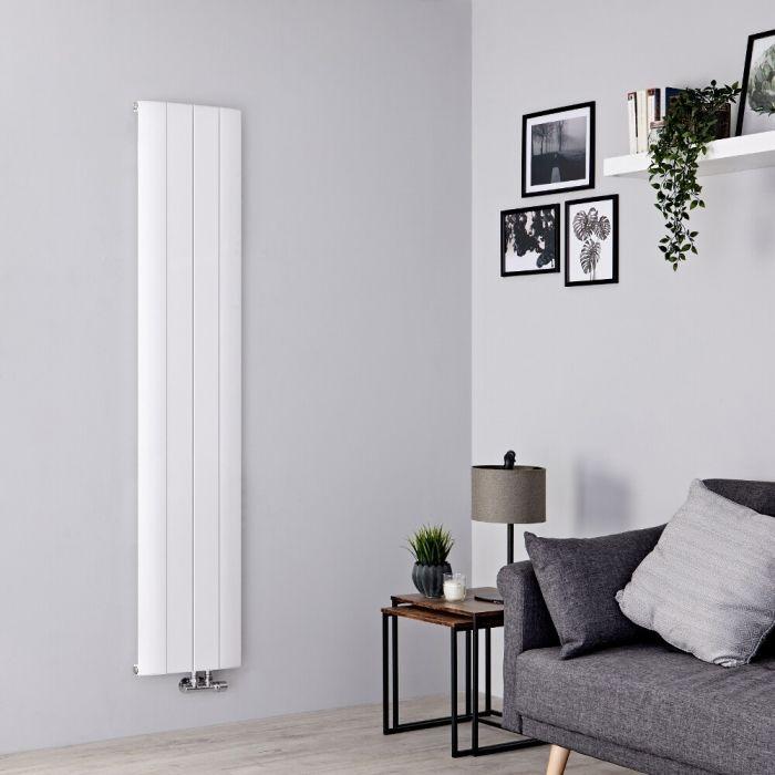 Milano Skye - Aluminium White Vertical Designer Radiator 1800mm x 375mm