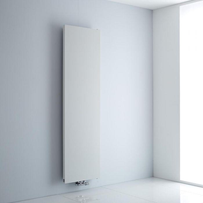 Milano Riso - White Flat Panel Vertical Designer Radiator 1800mm x 500mm