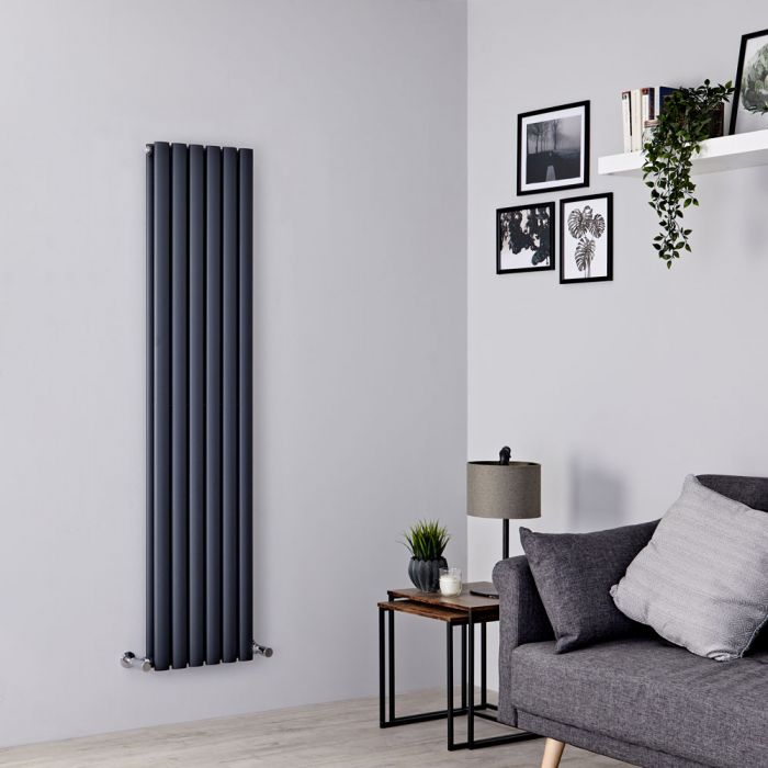 Milano Aruba - Anthracite Vertical Designer Radiator 1600mm x 354mm (Double Panel)