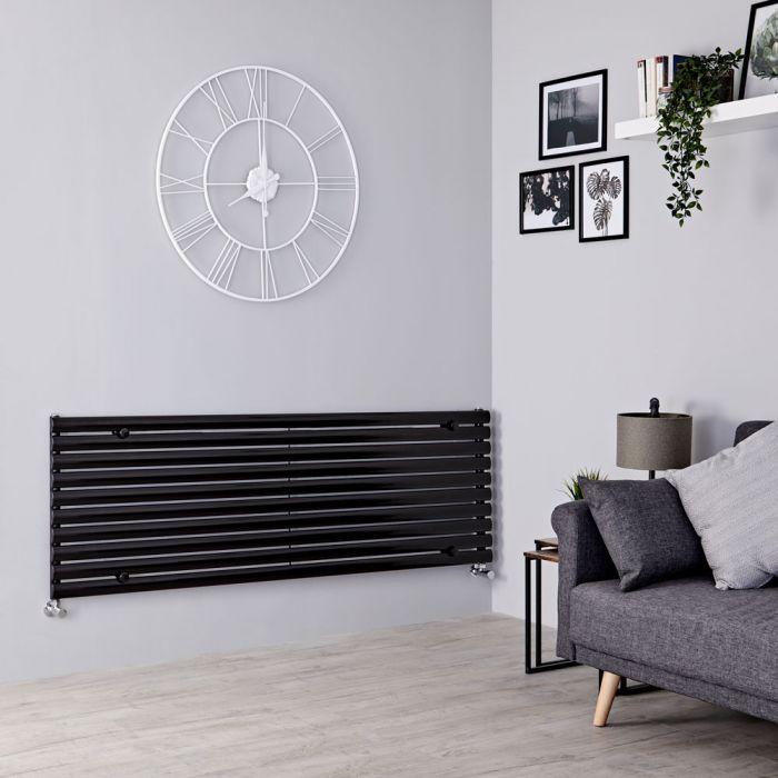 Milano Aruba - Black Horizontal Designer Radiator 590mm x 1600mm