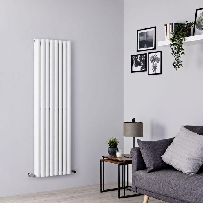 Milano Aruba - White Vertical Designer Radiator 1600mm x 472mm (Double Panel)
