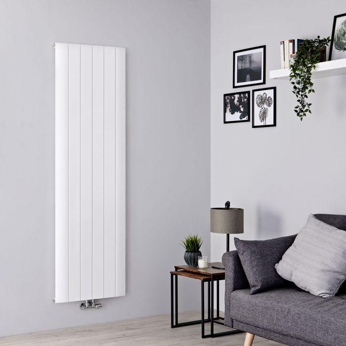 Milano Skye - Aluminium White Vertical Designer Radiator 1800mm x 565mm