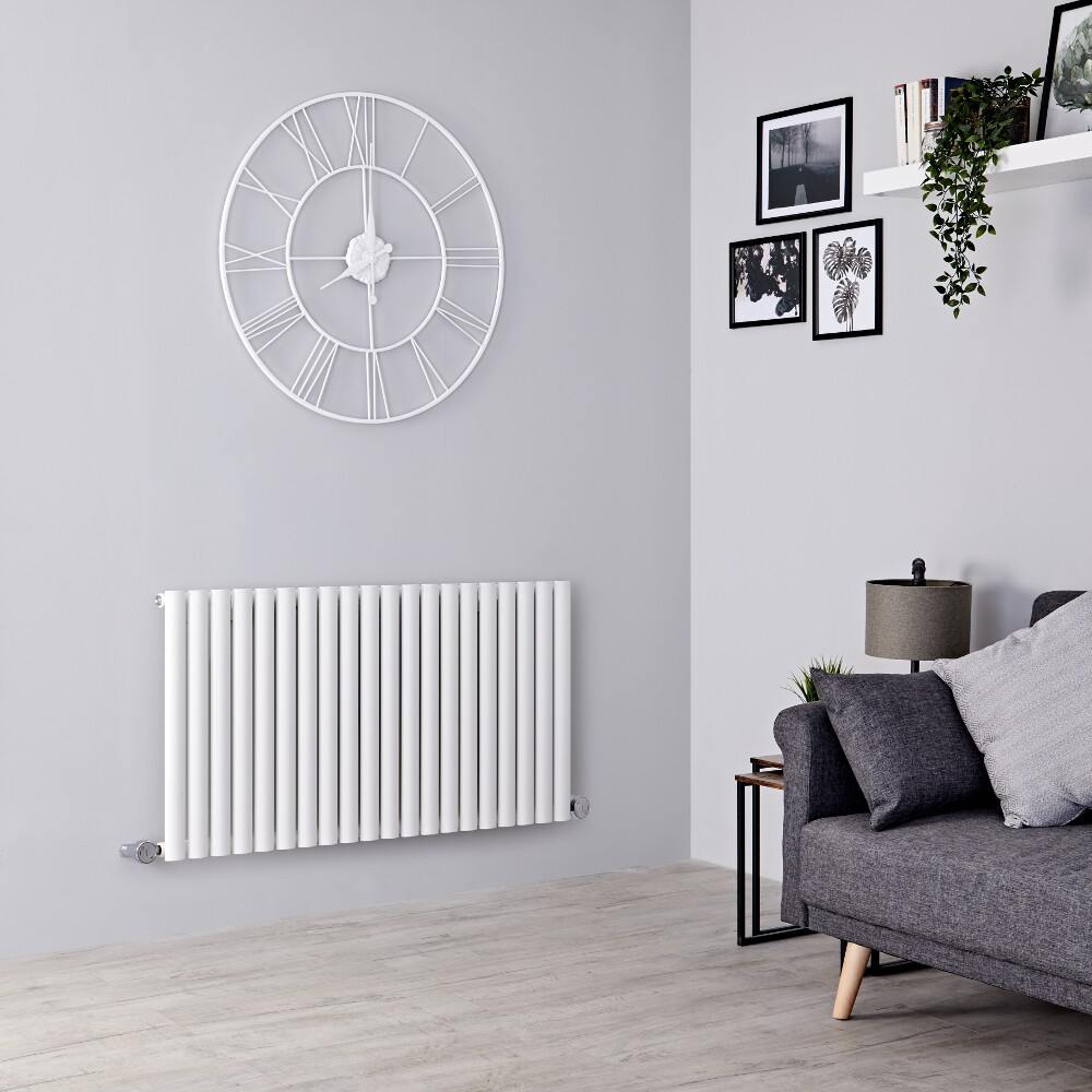 Milano Aruba Electric - White Horizontal Designer Radiator 635mm x 1180mm