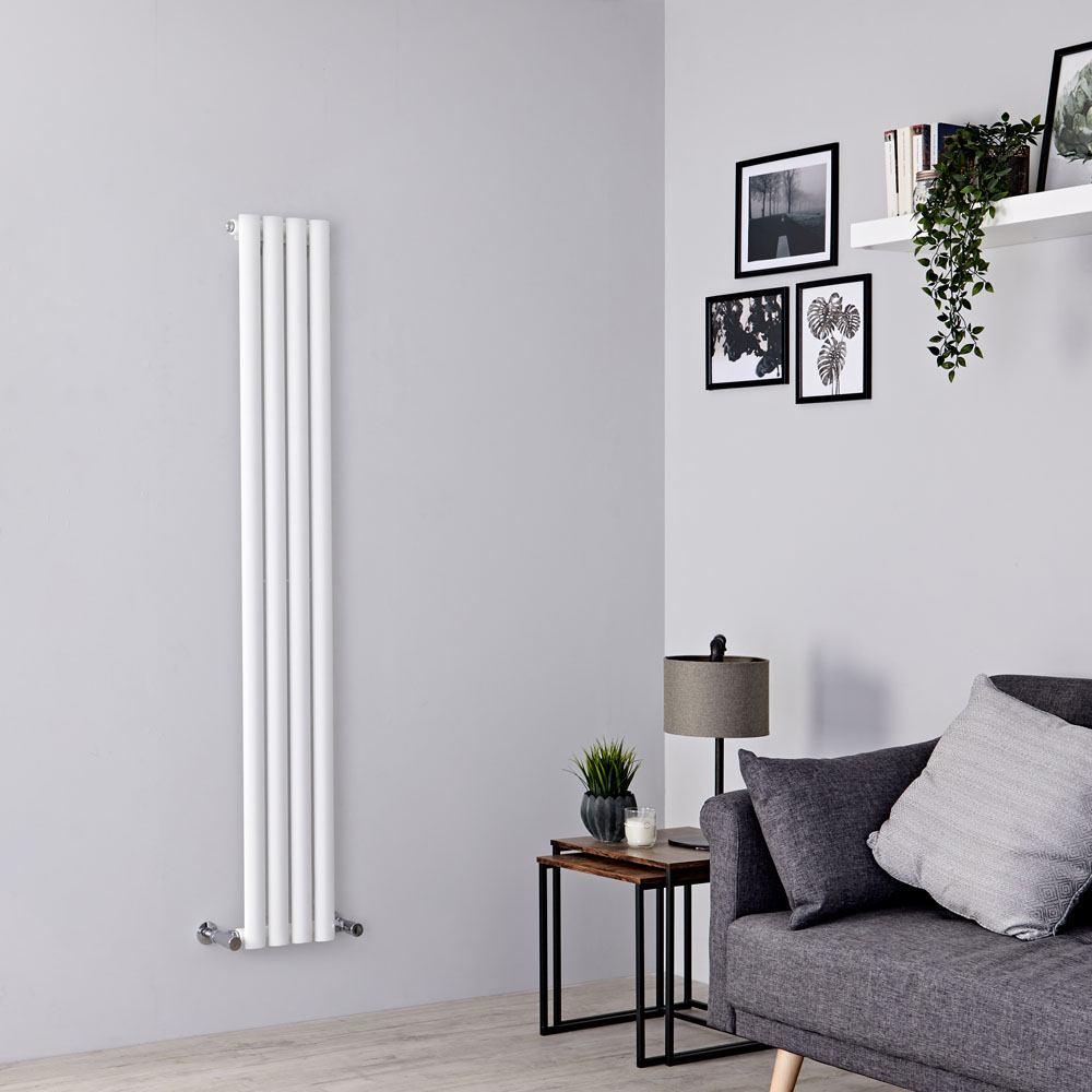 Milano Aruba Slim - White Space-Saving Vertical Designer Radiator 1600mm x 236mm