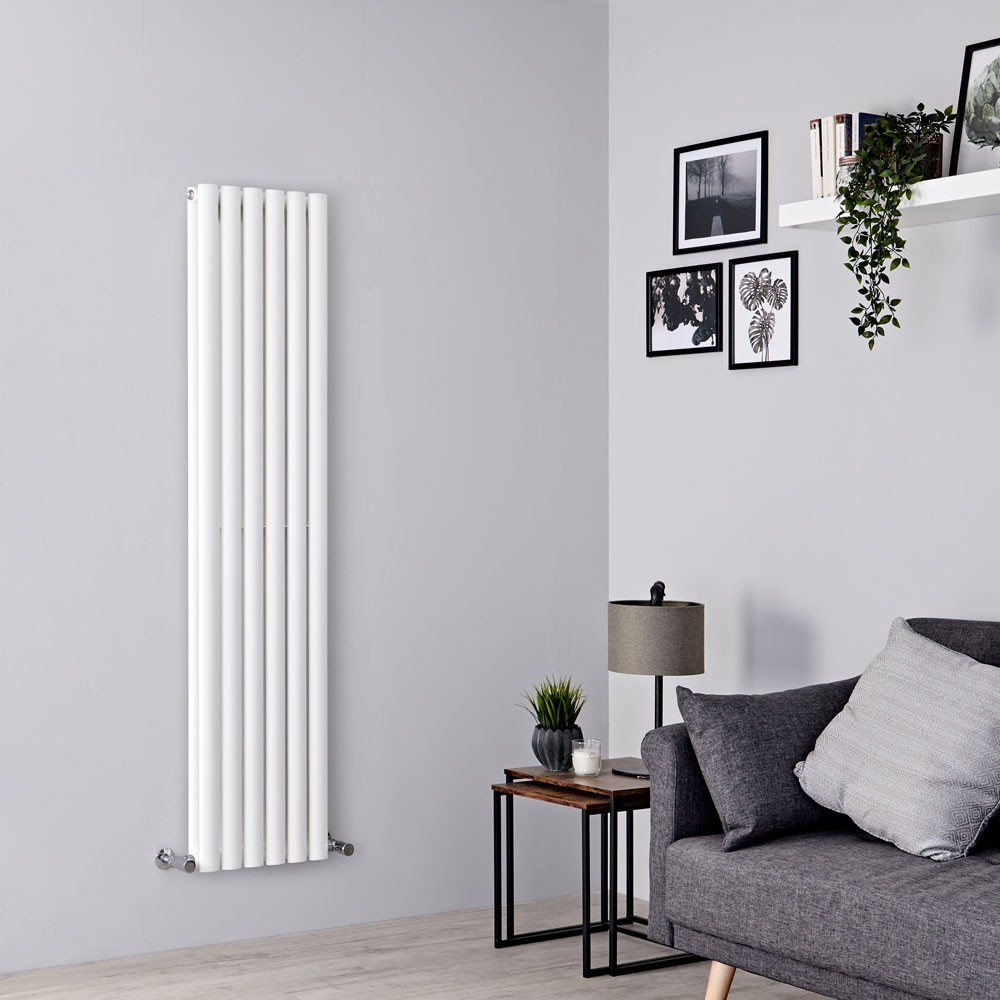 Milano Aruba - White Vertical Designer Radiator 1600mm x 354mm (Double Panel)
