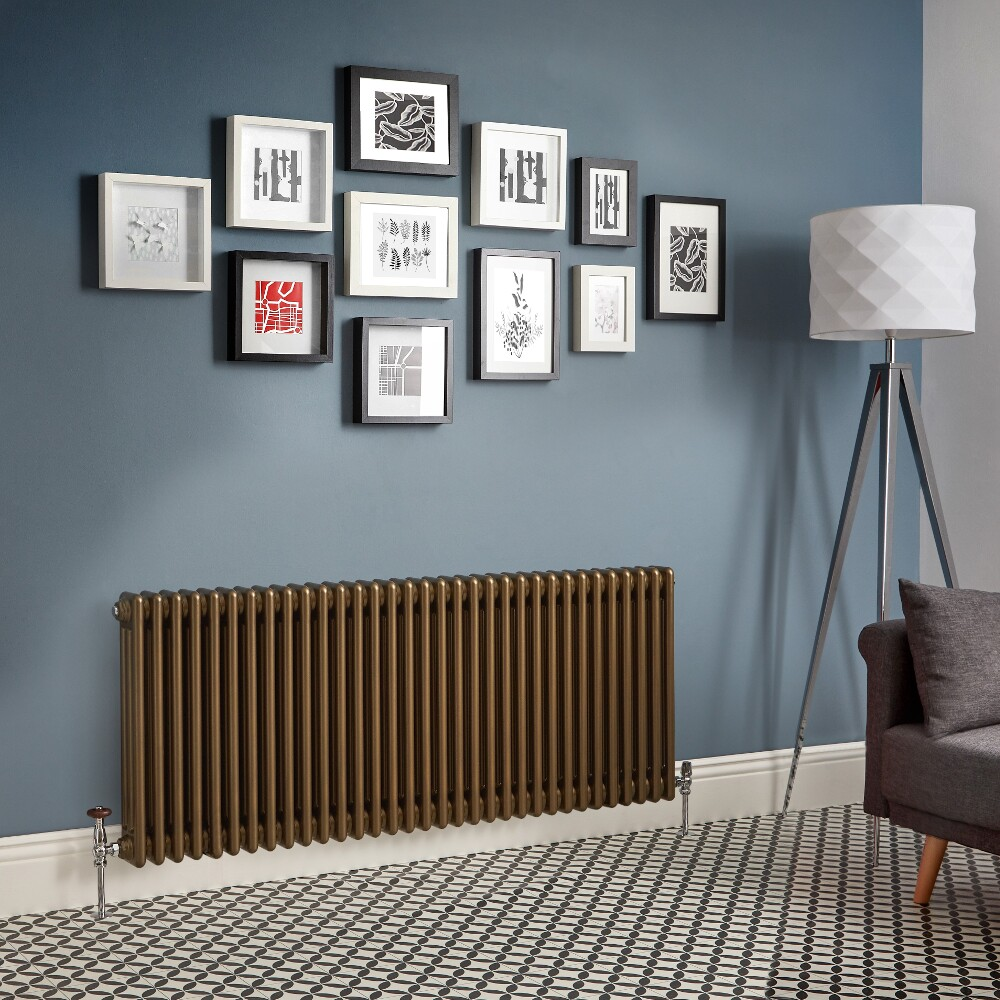 Milano Windsor - Metallic Bronze Horizontal Traditional Column Radiator (Triple Column) - Various Sizes