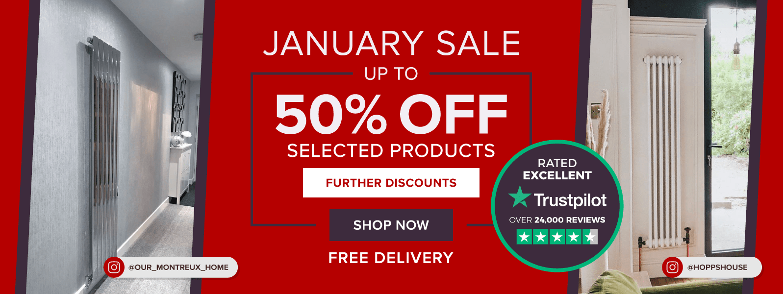 January Sale - Up to 50% OFF Selected Products - FREE DELIVERY