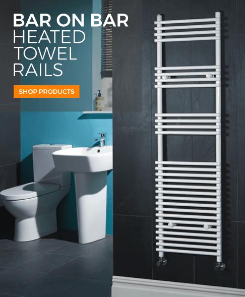 bar on bar heated towel rails