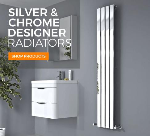 chrome and silver designer radiators