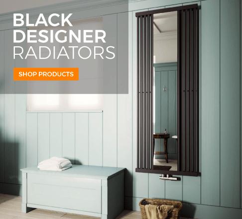 high gloss black designer radiators