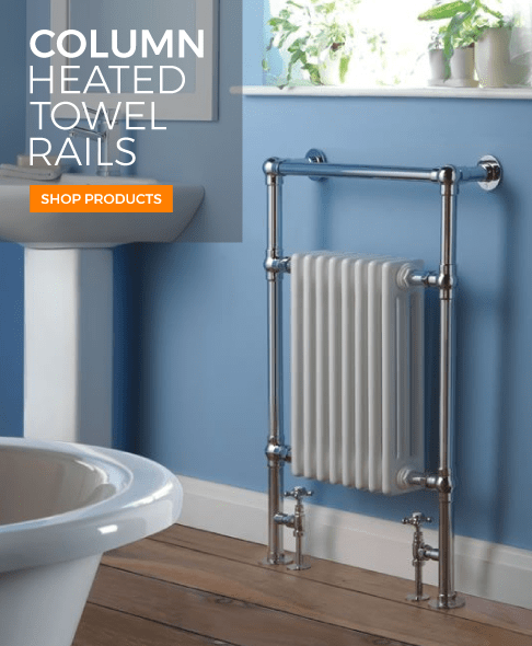 column heated towel rails