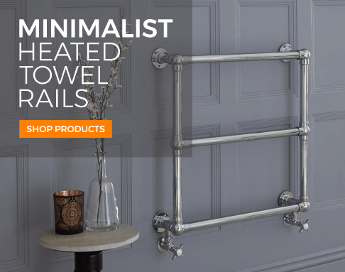 minimalist heated towel rails